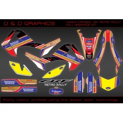 Honda CRF250L CRF250SM 'Retro Rally'  Full Graphics Kit