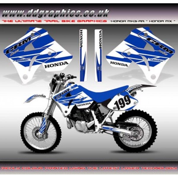 "Honda CRM250 Mk3 AR ""Honda MX Blue White"" Tank Graphic Kit"