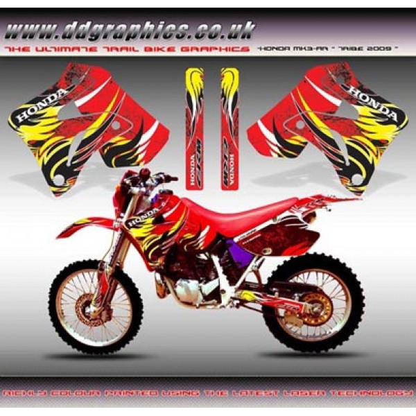 "Honda CRM250 Mk3 AR ""Tribe 2009"" Tank Graphics Kit."