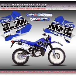 "DT125 / 200R ""Fox Racing"" Tank Graphic Kit "" Blue""."