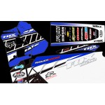"DT125r / 200R ""Fox Racing"" Full Graphic Kit "" Blue""."
