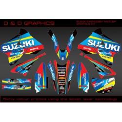 "Suzuki DRZ400SM, DRZ400S DRZ400E "" MOTO GP  "" Full Graphics kit Black"