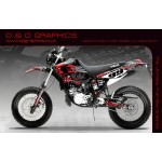 "Yamaha DT125RE / X  Lanza  "" Zombie"" Full Graphic Kit Black"