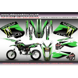 "Yamaha DT125RE / X Lanza "" Monster "" Full Graphic Kit Green"