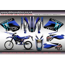 "Yamaha DT125RE DT125X  DT Lanza 230 "" Monster"" Full Graphic Kit Blue"