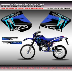 "Yamaha DT125RE / X  DT Lanza 230 "" Monster "" Blue Tank Graphic"