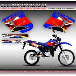 "Yamaha DT125RE / X  DT Lanza 230 "" Red Rider "" Blue Tank Graphic"