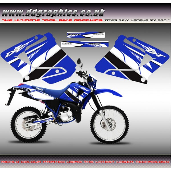 "Yamaha DT125RE / X Lanza 230 "" Yamaha MX Pro"" Tank Graphic Kit"