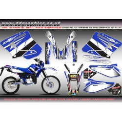 "Yamaha DT125RE / X  Lanza  ""Yamaha MX Pro"" Full Graphics Kit Blue."