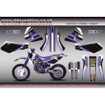 "Yamaha TTR250 Open Enduro "" Laser "" Full Graphics Kit"