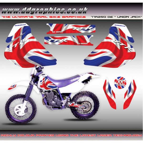 "Yamaha TTR250 OE ""Union Jack"" Tank Graphics Kit"