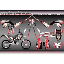 "Yamaha WR250X WR250R ""Force"" Full Graphics Kit Black"