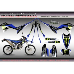"Yamaha WR250X WR250R "" Monster "" Full Graphics Kit"