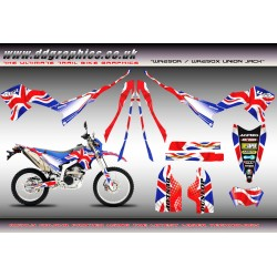 "Yamaha WR250X WR250R ""Union Jack"" Full Graphics Kit."