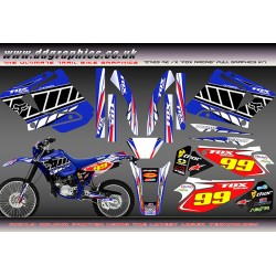 "Yamaha DT125RE / X  Lanza  "" Fox Racing "" Full Graphic Kit blue"