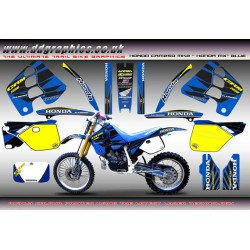 "Honda CRM250 Mk2 ""Honda MX"" Full Graphics Kit (Blue)."