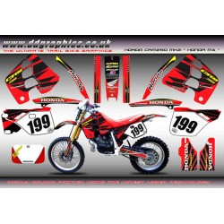 "Honda CRM250 Mk2 ""Honda MX"" Full Graphics Kit (Red)."