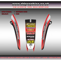 Honda CRM250 Mk2 Rear Fender Graphics Red. <br>