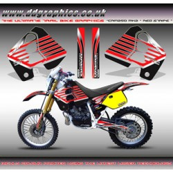 "Honda CRM250 Mk2 ""Red Stripe"" Tank Graphics Kit."