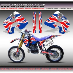 "Honda CRM250 Mk2 ""Union Jack"" Tank Graphics Kit."