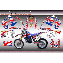 "Honda CRM250 Mk2 ""Union Jack"" Full Graphics Kit."