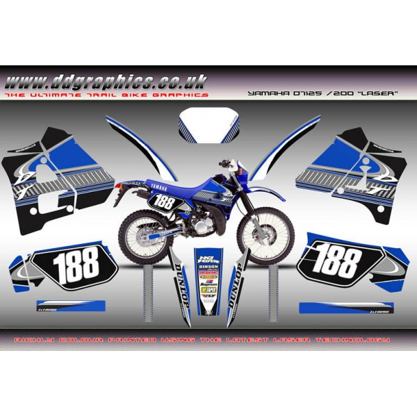 "Yamaha DT 125/200 ""Laser"" Full Graphic Kit"