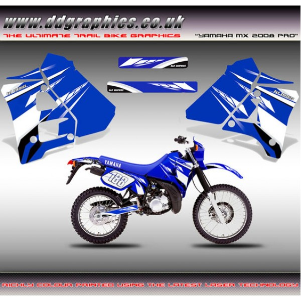 "DT125R / 200R ""Yamaha MX 08 Pro"" Tank Graphic Kit."