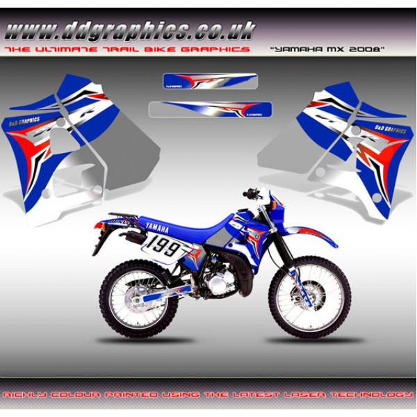 "DT125r / 200r ""Yamaha MX 08"" Tank Graphic Kit."