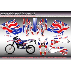 Yamaha DT125 Re / DT 125X Union Jack Full graphic Kit.