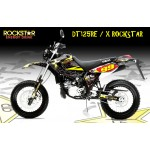 "Yamaha DT125RE / X  Lanza  "" Rockstar"" Full Graphic Kit Black"