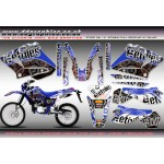 "Yamaha DT125 Re X  ""Etnies"" Full graphic Kit Blue."