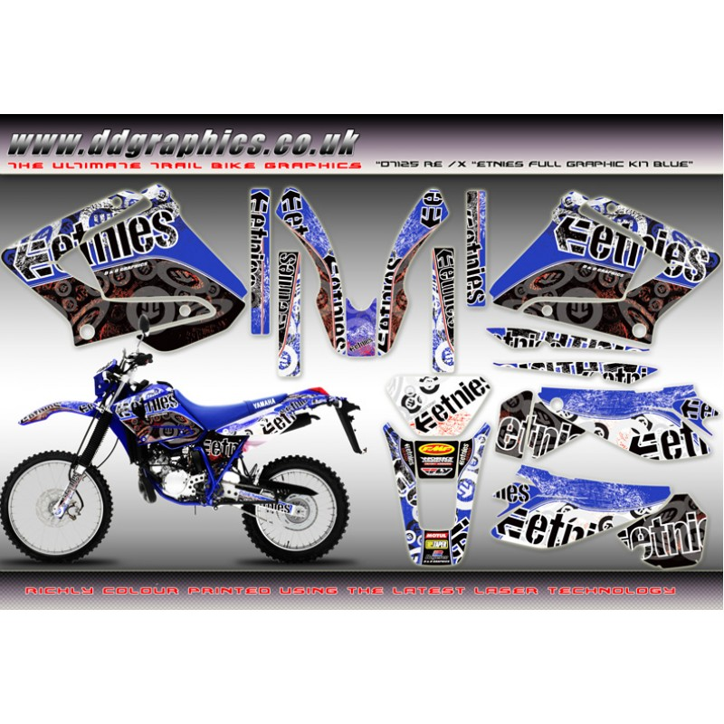 yamaha dt125 re x etnies full graphic kit blue. Black Bedroom Furniture Sets. Home Design Ideas