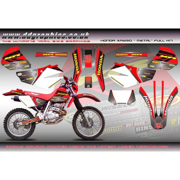 "Honda XR250 ""Metal"" Full Graphic Kit"