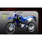 "Yamaha DT125RE / X  Lanza  "" Monster "" Full Graphic Kit blue"