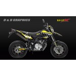 Yamaha WR125r wr125x  retro Graphics kit yellow