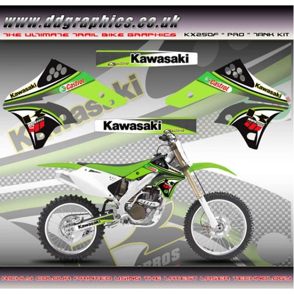 "Kawasaki KX250F ""Pro"" Tank Graphic Kit"