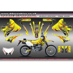 "Suzuki DRZ400 E S ""Tribe"" Full graphics Kit"