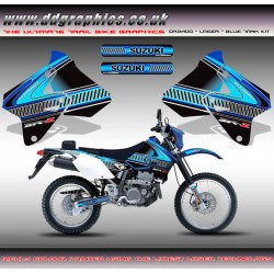 "Suzuki DRZ400 ""Laser"" Blue Tank Graphics Kit Blue ."
