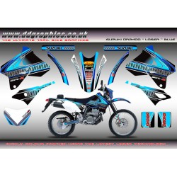 "Suzuki DRZ400 ""Laser"" Full Graphics Kit Blue ."