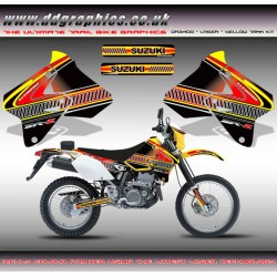 "Suzuki DRZ400 ""Laser"" Tank Graphics Kit Yellow"