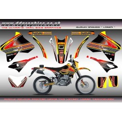 "Suzuki DRZ400 ""Laser"" Full Graphics Kit Yellow"