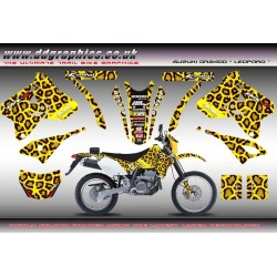 "Suzuki DRZ400 ""leopard "" Yellow Full Graphics Kit."