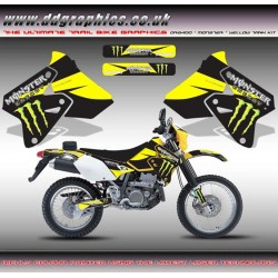 "Suzuki DRZ400 ""Monster"" Tank Graphic Kit Yellow"