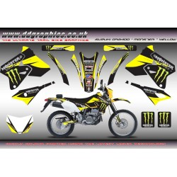 "Suzuki DRZ400 ""Monster"" Full Graphics Kit Yellow"