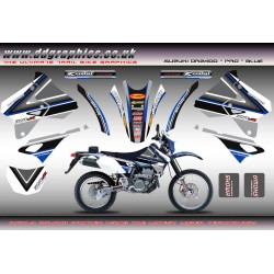 "Suzuki DRZ400 ""PRO"" Blue Full Graphics Kit"