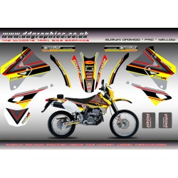 "Suzuki DRZ400 ""PRO"" Yellow Full Graphics Kit"