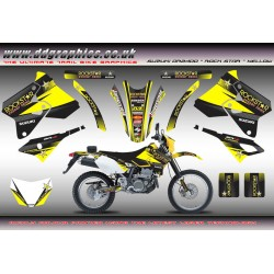 "Suzuki DRZ400 ""Rock Star"" Full Graphic Kit Yellow"