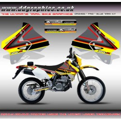 "Suzuki DRZ400 ""PRO"" Yellow Tank Graphics Kit  ."
