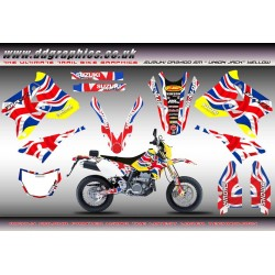 "Suzuki DRZ400SM ""Union Jack"" Full Graphics Kit."