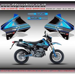 "Suzuki DRZ400 ""Laser"" Blue Tank Graphic Kit Blue"